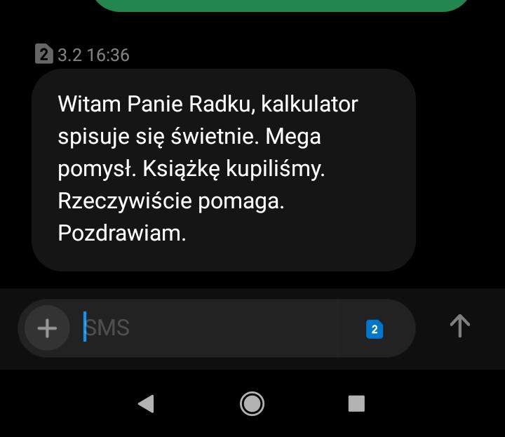 Opinia o SecretCalc z SMS